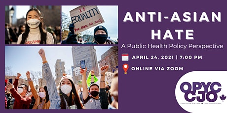 Anti-Asian Hate: A Public Health Policy Perspective tickets