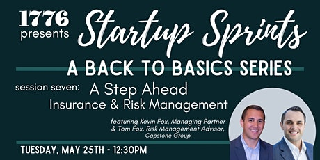 1776 Presents: Startup Sprints Session 7  - Insurance & Risk Management tickets