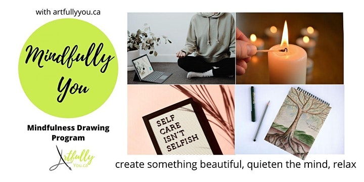 Mindfulness  Drawing & Watercolour 8 week program - Evenings Fall 2021 image