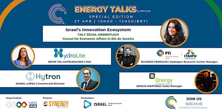 Imagem do evento 3o ENERGY TALKS   Israel's Innovation Ecosystem
