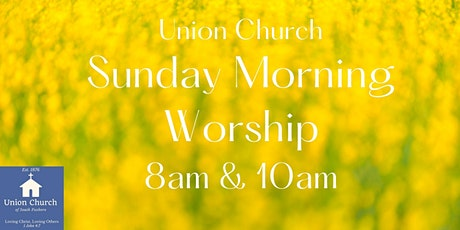 Welcome to our in-person Sunday Morning Services! tickets