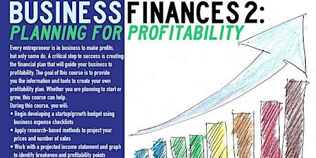 Webinar,Business Finance 2: Planning For Profitability, 6/16/2021 tickets