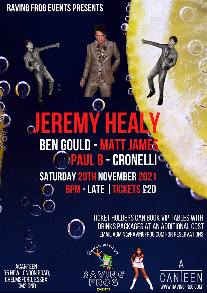 RAVING FROG EVENTS PRESENTS JEREMY HEALY image