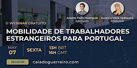 Autorização de Residência para Trabalhadores transferidos para Portugal bilhetes