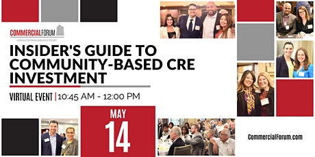 Insider's Guide to Community-Based CRE Investment tickets