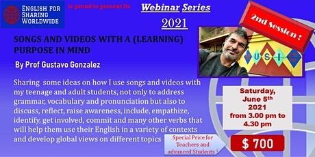 SONGS AND VIDEOS WITH A (LEARNING) PURPOSE IN MIND. 2nd Session entradas