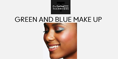 MAC TECHNIQUE GREEN & BLUE  MAKE UP biglietti