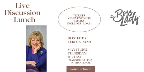 Live Lunch and Discussion with Nancy Lohman tickets