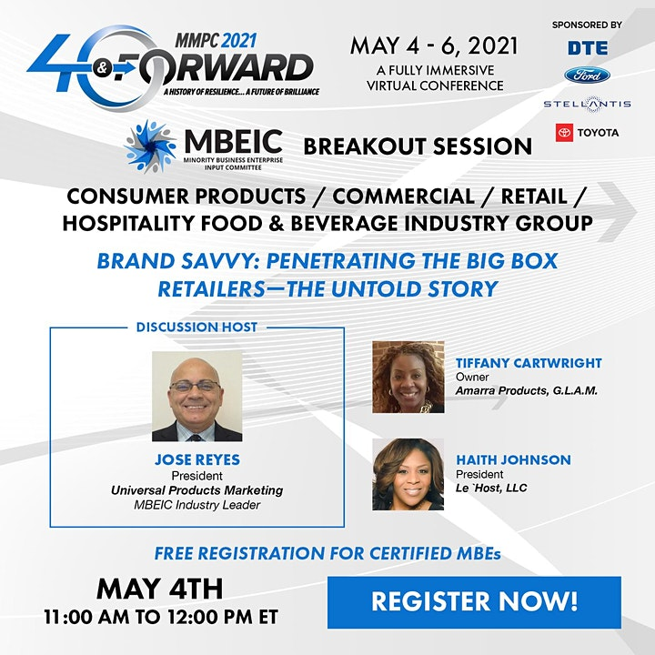 MBEIC Industry Group Breakout Sessions @ MMPC 2021: Forty & Forward image