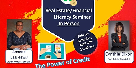 Real Estate/Power of Credit Seminar  (In Person) April 24th tickets
