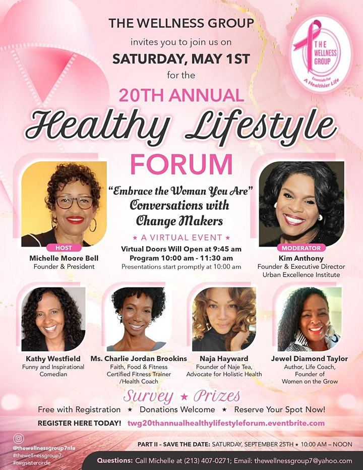 "20th Annual Healthy Lifestyle Forum ""Embrace the Woman You Are"". image"