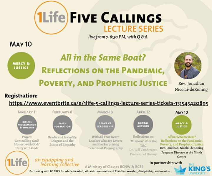 1Life: 5 Callings Lecture Series image