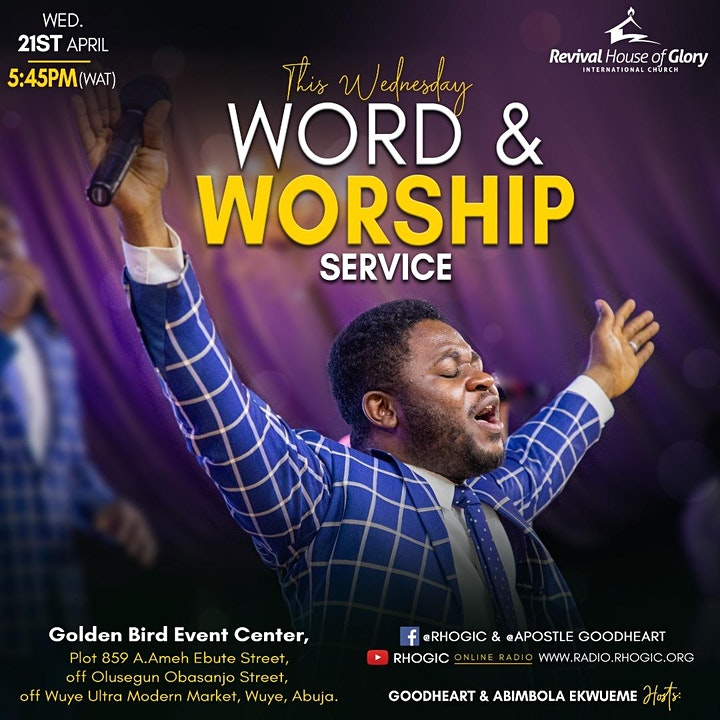RHOGIC Wednesday Mid-Week Word & Worship Services for April 2021 image