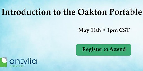 Introduction to the Oakton portable meters Webinar tickets