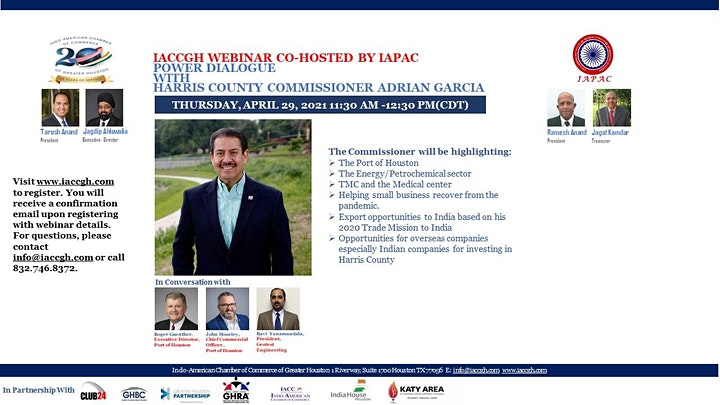 IACCGH Webinar:Power Dialogue with Harris County Commissioner Adrian Garcia image