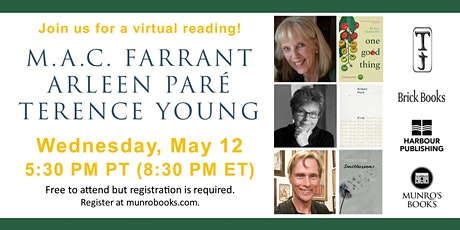 Munro's Books Presents: M.A.C. Farrant, Arleen Pare & Terence Young tickets
