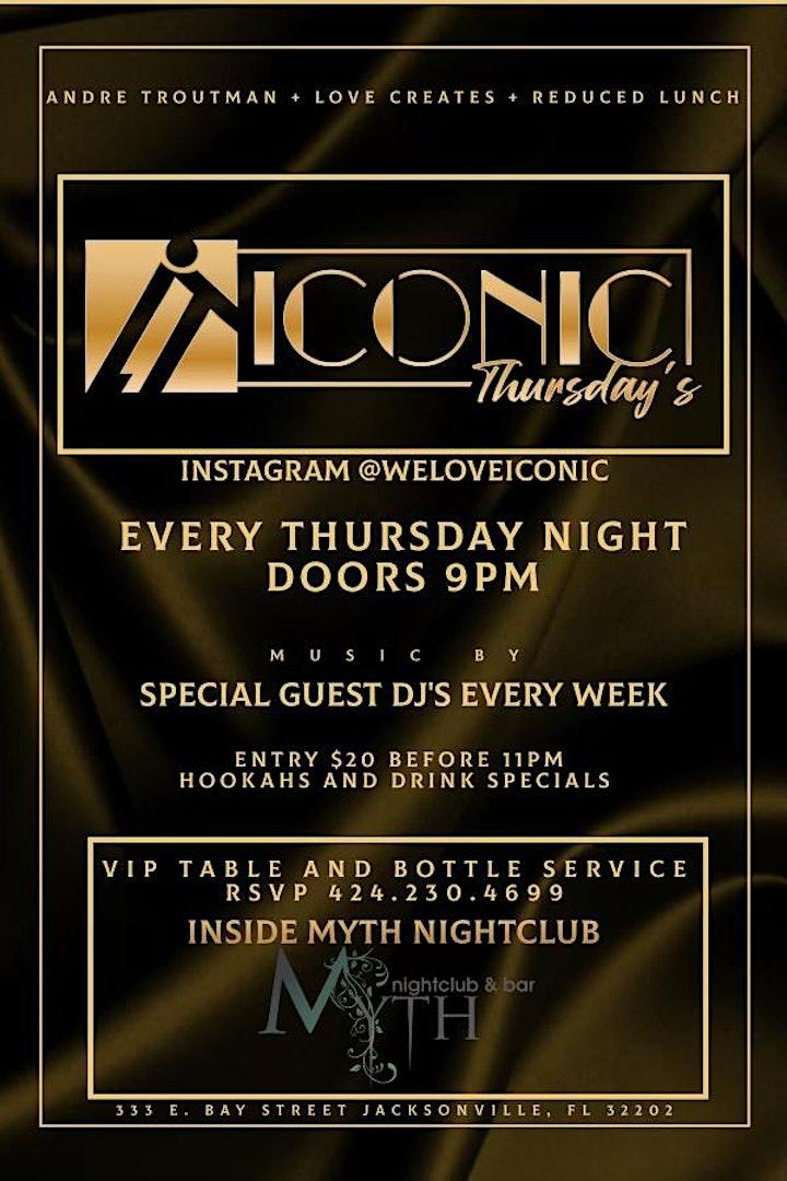 ICONIC Thursday's at Myth ! image