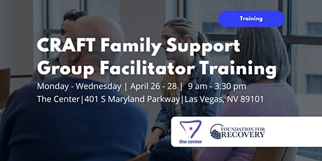 CRAFT Family Support Group Facilitator Training tickets