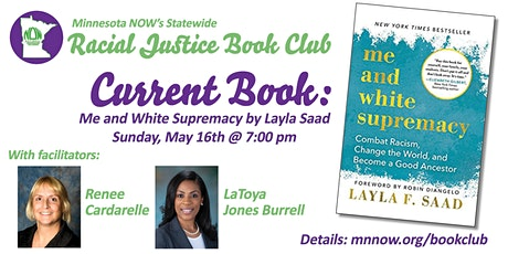 MN NOW Statewide Racial Justice Book Club:  Book 1 - Me and White Supremacy tickets