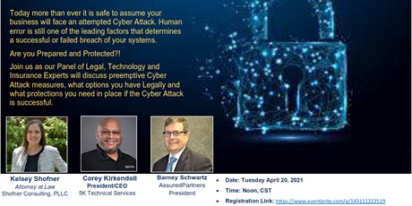 Cyber Security Awareness Panel tickets
