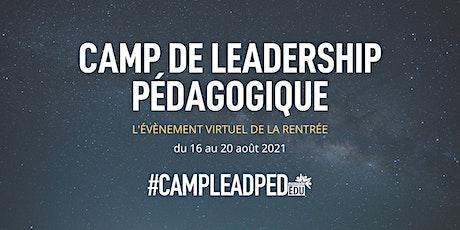 Camp de leadership pédagogique billets