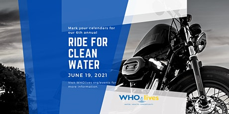 WHOlives 6th  Annual Ride for Clean Water 2021 tickets
