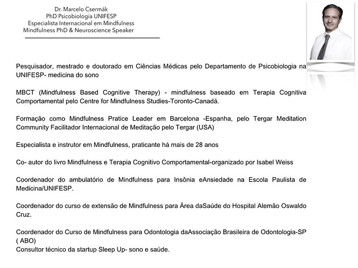 Imagem do evento Mind Club- Dr. Marcelo Csermák- lista de interesse/ acesso a plataforma