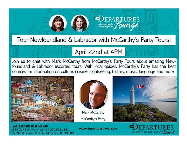 Tour Newfoundland & Labrador with McCarthy's Party Tours! image