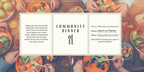 May Community Dinner tickets