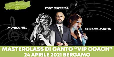 """Masterclass di canto """"Vip Coach""""  CharmEEvents Music Academy Bergamo biglietti"""