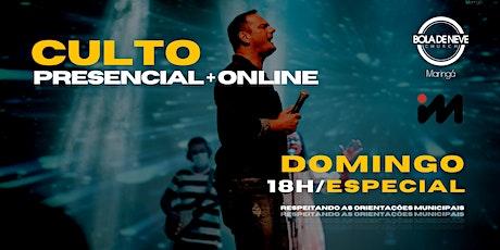 CULTO DOMINGO | NOITE | 25/04 | 18h ingressos