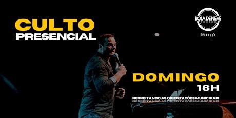 CULTO DOMINGO | TARDE | 25/04 | 16h ingressos