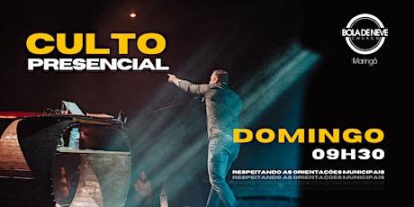 CULTO DOMINGO | MANHÃ | 25/04 | 9h30 ingressos