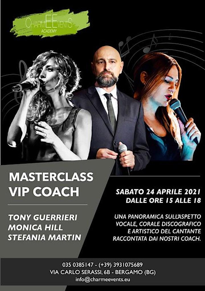 """Immagine Masterclass di canto """"Vip Coach""""  CharmEEvents Music Academy Bergamo"""
