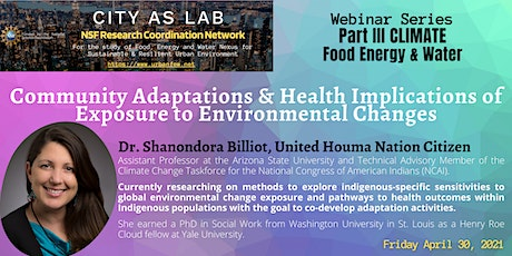 Community Adaptations & Health Burden of Exposure to Environmental Changes tickets