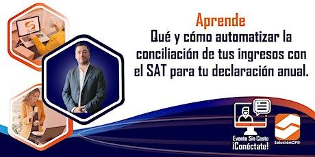CONCILIACIÓN DE TUS INGRESOS CON EL SAT entradas