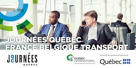 Journées Québec France Belgique : secteur du transport billets