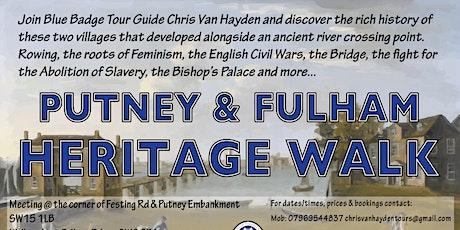 Copy of Putney & Fulham Heritage Walk tickets