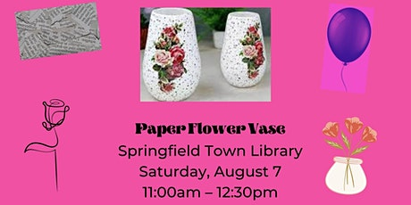 DIY Paper Flower Vase tickets