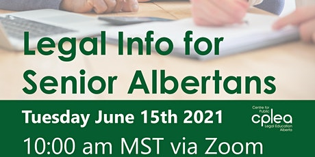 Legal Information for Senior Albertans tickets