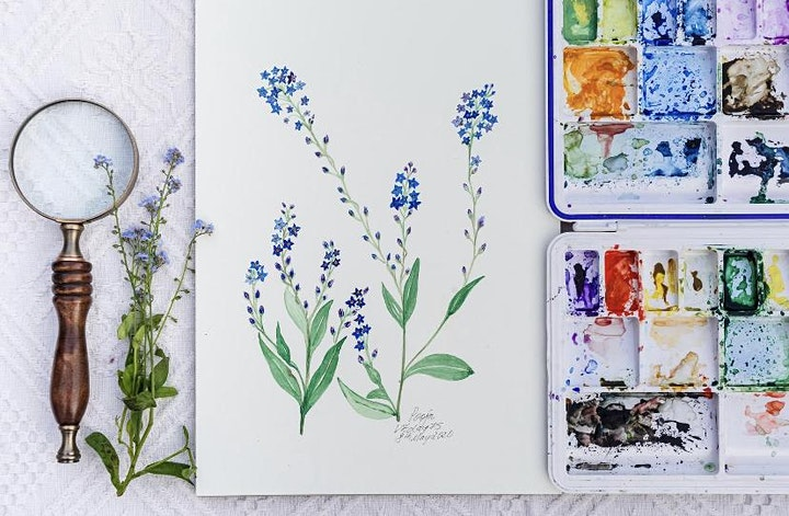 Watercolour Weekly Painting Club Every Sunday 4 pm GMT image