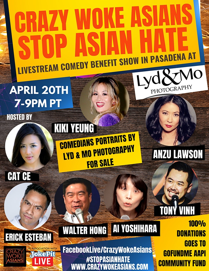 CRAZY WOKE ASIANS STOP ASIAN HATE COMEDY BENEFIT SHOW  AT LYD & MO STUDIO! image