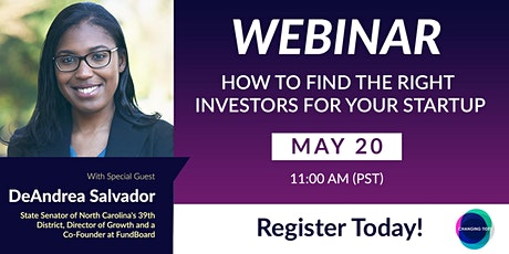 How to Find the Right Investors for Your Startup with DeAndrea Salvador tickets