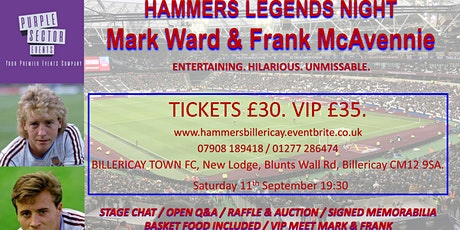 Hammers Legends @ Billericay Town FC! tickets