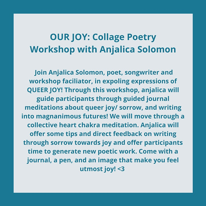 Write With Pride: Our Joy Collage Workshop ft. Anjalica Solomon image