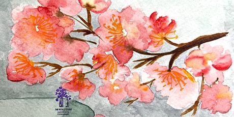 Watercolour Cherry Blossoms Painting Workshop tickets