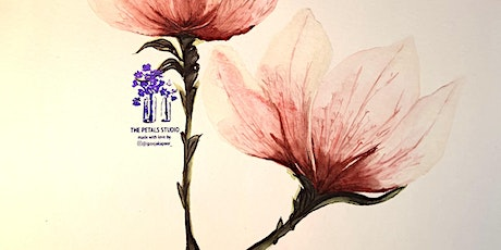 Watercolour Magnolia Flower Painting Online Workshop tickets