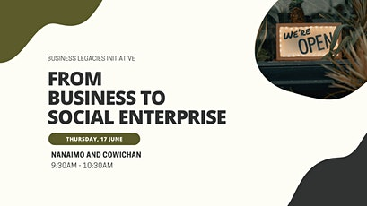 Nanaimo and Cowichan: From Business to Social Enterprise tickets