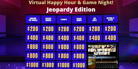 Virtual Happy Hour & Game Night - Jeopardy Edition tickets