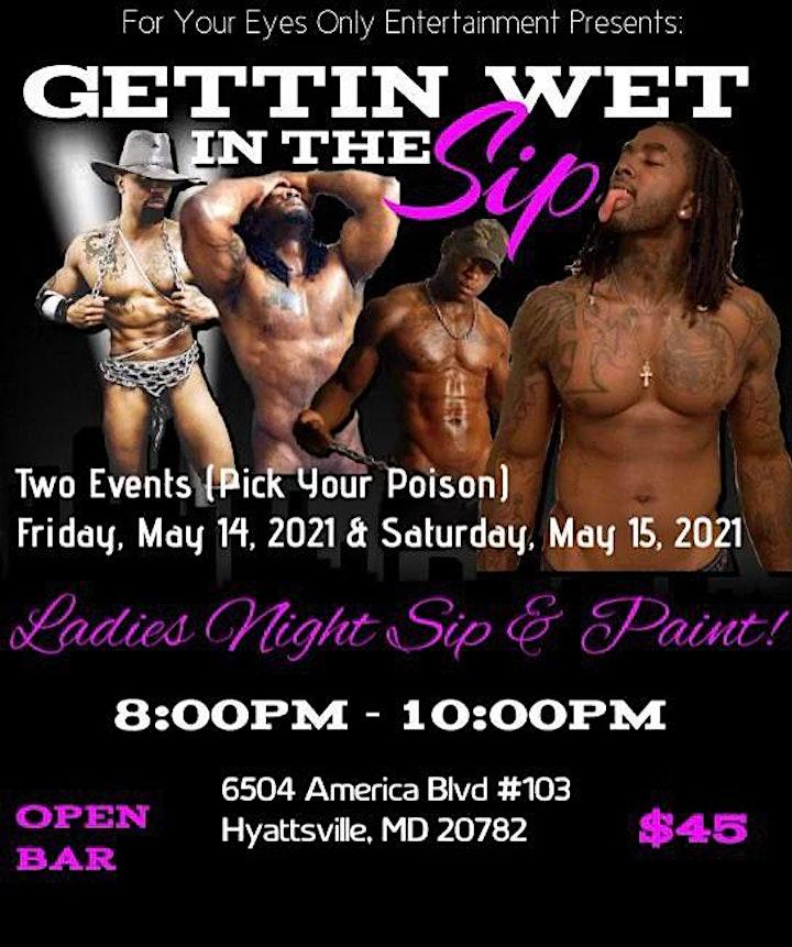 Sip & Paint with Exotic Male Models- (Fri. May 14 & Sat. May 15) image